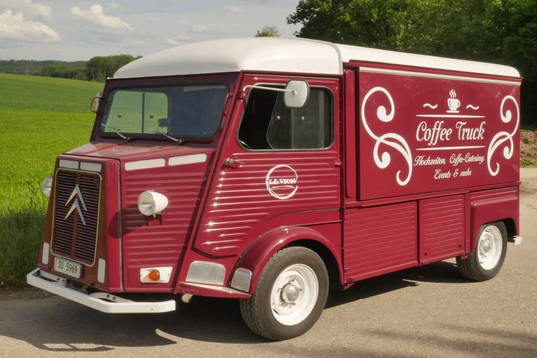 Citroen Hy umgebaute Kaffeebar